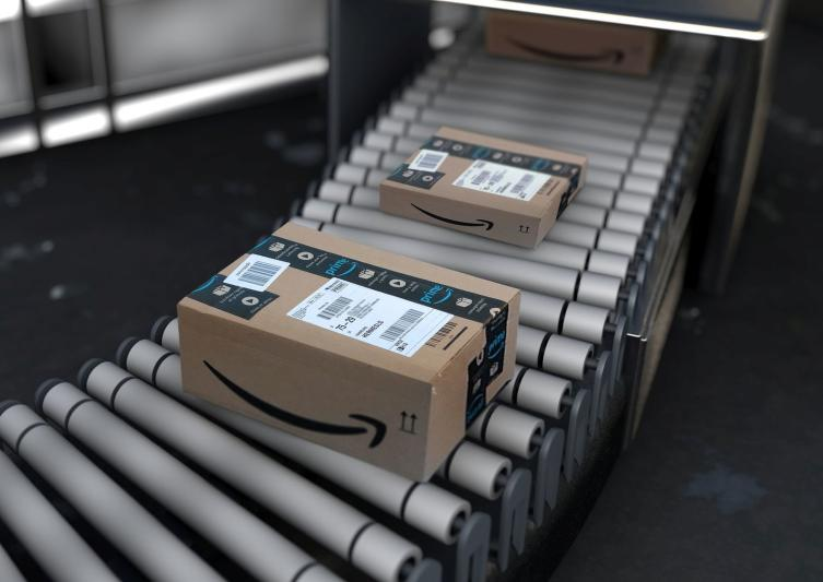 Un magazzino Amazon in Olanda